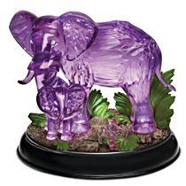 "Blake Jensen ""Mystical Enchanted"" Lighted Elephants Figurine"