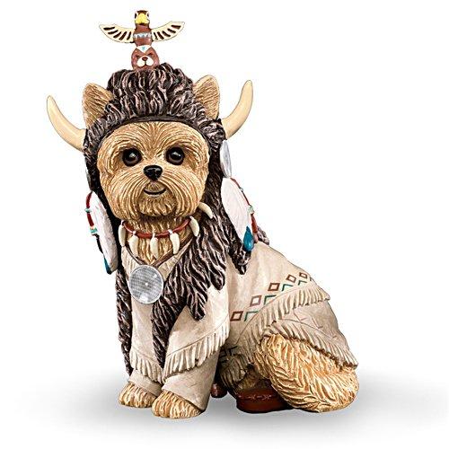 Totem Tiny Paws Native American Yorkie Figurine