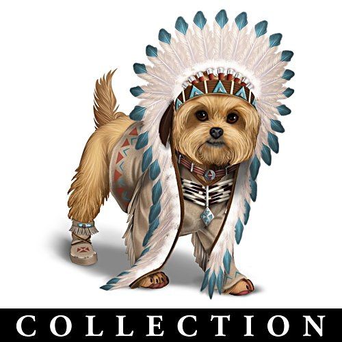 """Chief Little Paws"" Yorkie Figurine Collection"
