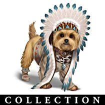 """Chief Little Paws"" Yorkie Figurine"