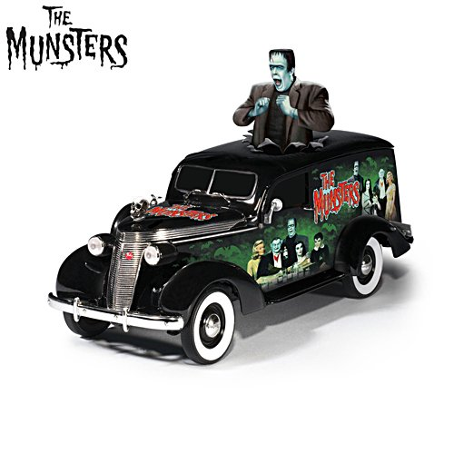'Riding With The Munsters®' Hearse Sculpture