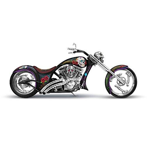 """Spirit Riders"" Sugar Skull Bike Sculpture"