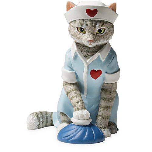 """Nurses Are Unfurr-getable"" Nurse Cat Figurine"