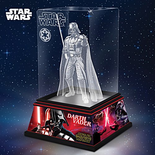 STAR WARS Darth Vader Laser-Etched Glass Sculpture