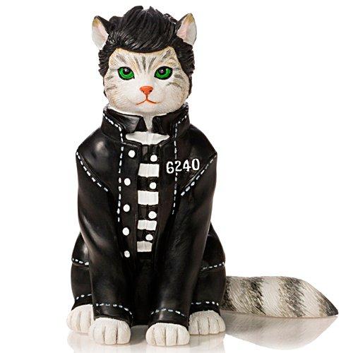 Jailhouse Purr-ock Elvis Cat Figurine