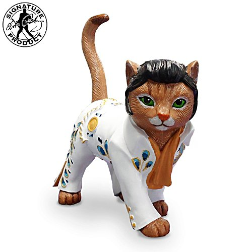 Love Me Tend-Purr Elvis Cat Figurine