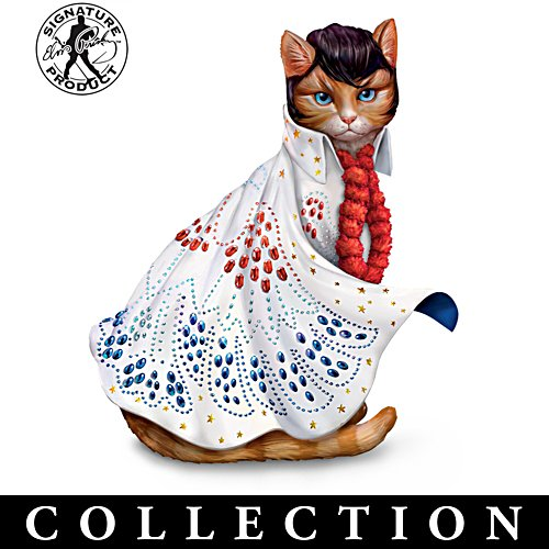 """Elvis-Purr-esley"" Cat Figurine Collection"