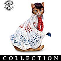 """Elvis-Purr-esley"" Cat Figurine Collection"