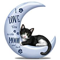 "Blake Jensen ""I Love You To The Moon And Back"" Cat Figurine"