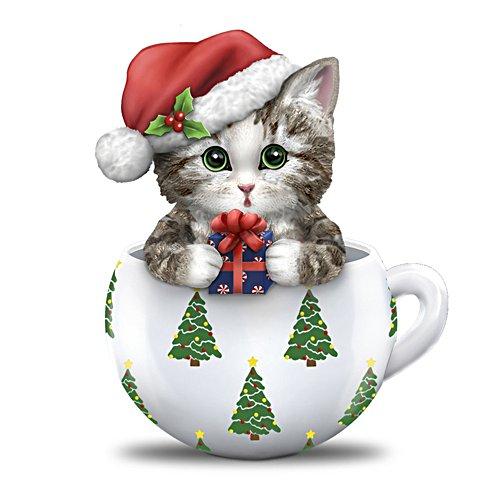 Kayomi Harai's Meow-y Christmas Cups Cat Figurine