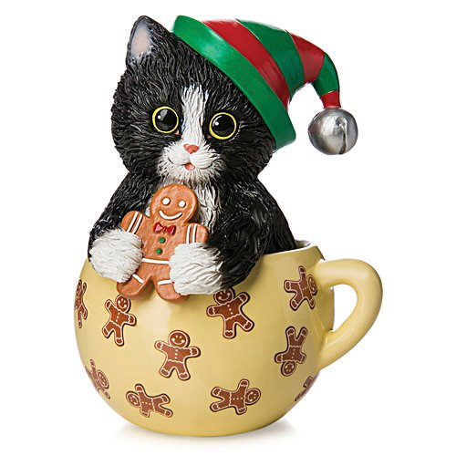 Kayomi Harai 'Meow-y Christmas Cups' Cat Figurine