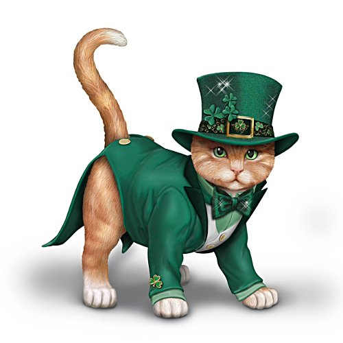 "Blake Jensen ""Feline Lucky"" Irish-Themed Cat Figurine"