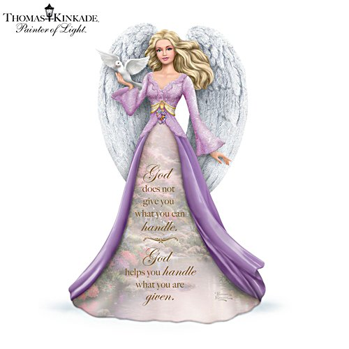 'God Helps You Handle What You Are Given' Angel Figurine