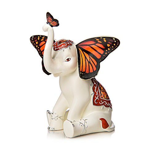 Magical Monarch' Elephant Figurine