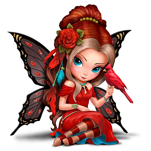 Jasmine Becket-Griffith Fairy With Cardinal Figurine