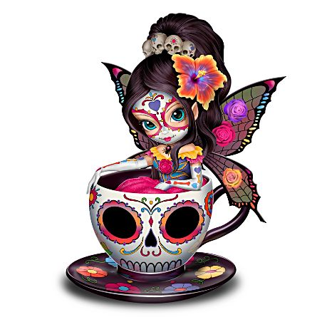 Jasmine Becket-Griffith Sugar Skull-Inspired Fairy Figurine