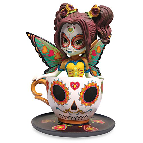 Jasmine Becket-Griffith Marvellous Marigold Sugar Skull Fairy Figurine