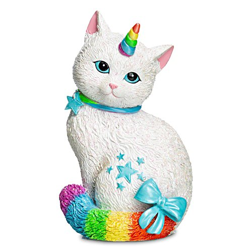 "Blake Jensen ""Starlight Caticorn"" Rainbow Cat Figurine"