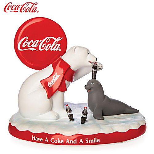 'Have A Coke And A Smile' Polar Bear Figurine