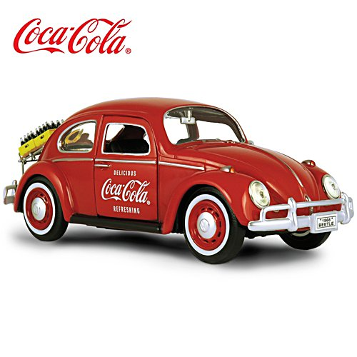 COCA-COLA Diecast 1966 VW Beetle Vehicle