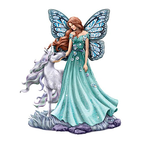 'Loving Radiance' Unicorn & Fairy Figurine