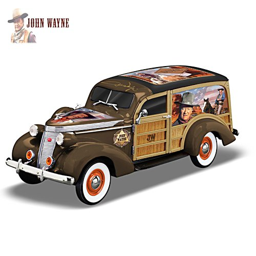 John Wayne 1:18-Scale 1937 Studebaker Woody Wagon Sculpture