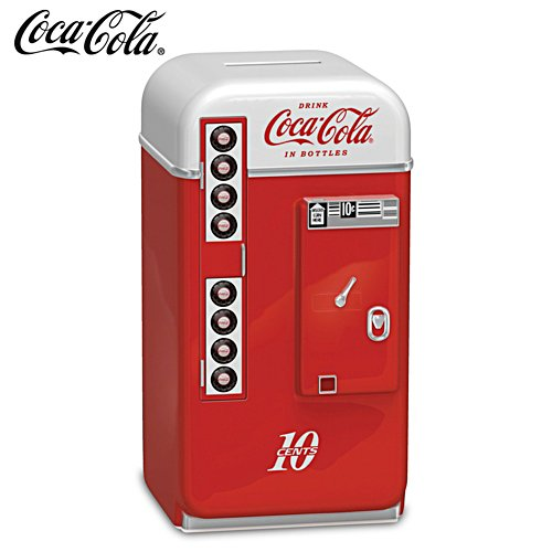 COCA-COLA 1950s-Style Vending Machine Coin Bank