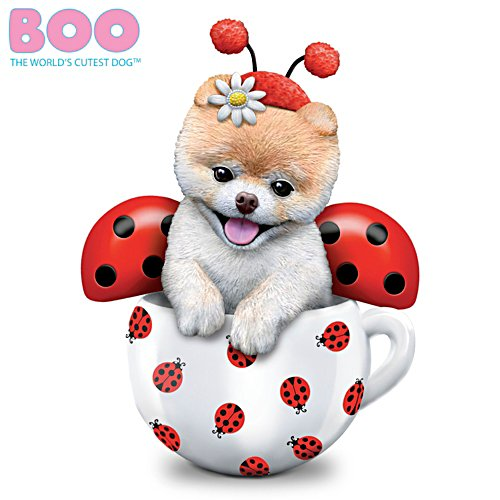 """Boo-tiful Love Bug"" Hand-Painted Dog Figurine"