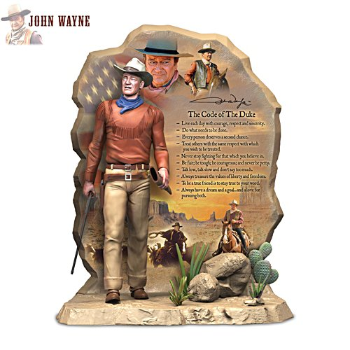 'The Code Of The Duke' John Wayne Tribute Sculpture