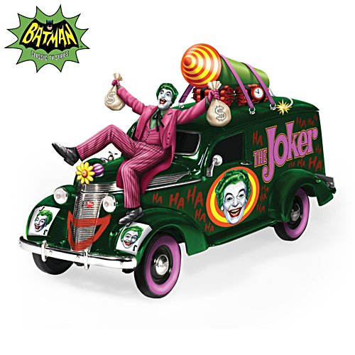 """THE JOKER'S Last Laugh"" Hearse Sculpture"