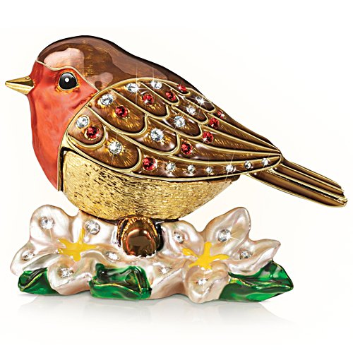 'Messenger Of Love' Robin Gold-Plated Ornament