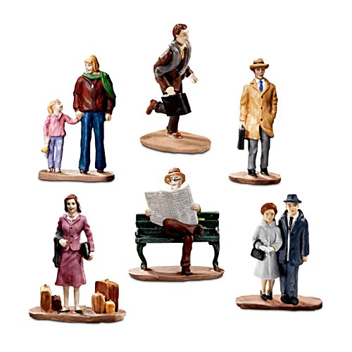 'Right On Time!' Passenger Train Accessory Figurine Set