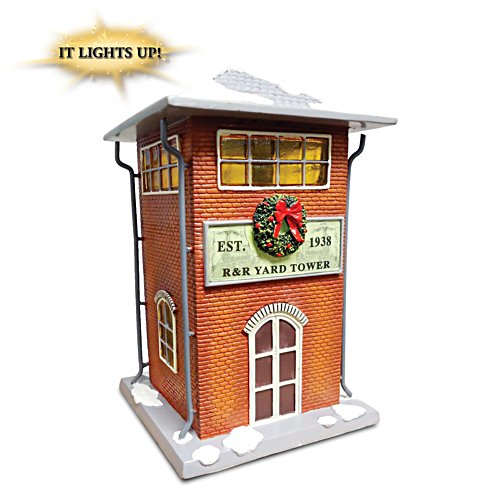"""Trackside Yard Tower"" Lighted Train Accessory"