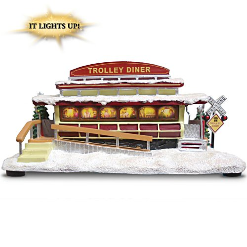 """Trolley Diner"" Lighted Train Accessory"