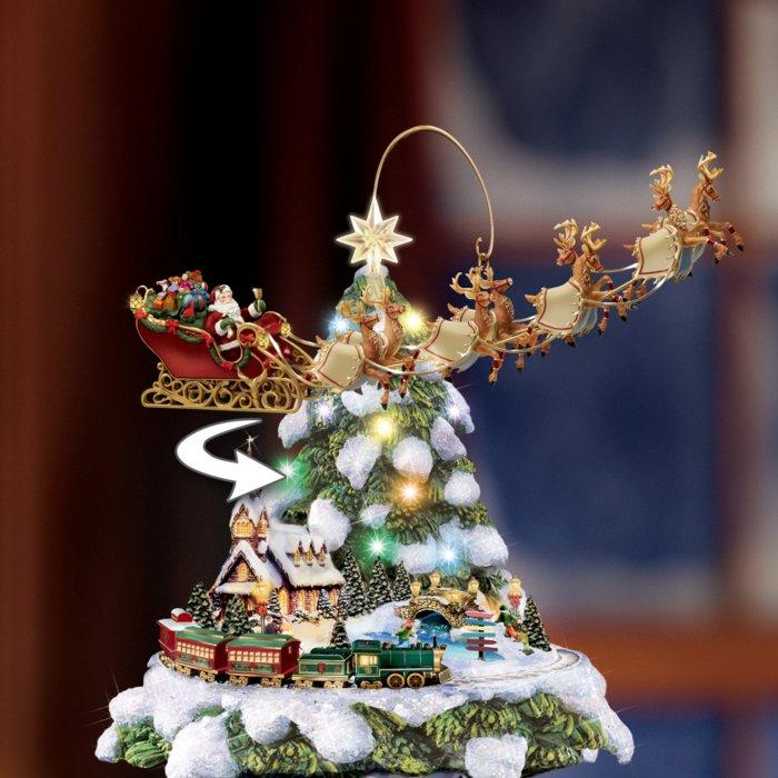 Albero Di Natale.L Albero Di Natale E Il Treno Del Paese Delle Meraviglie