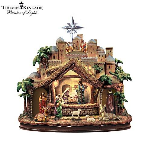Thomas Kinkade 'Following The Star' Nativity Sculpture