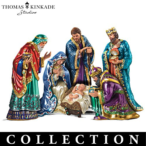 """The Jewelled Nativity"" Peter Carl Faberge-Inspired Figurines"