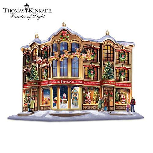 Thomas Kinkade Memories Of Christmas Story Windows Sculpture