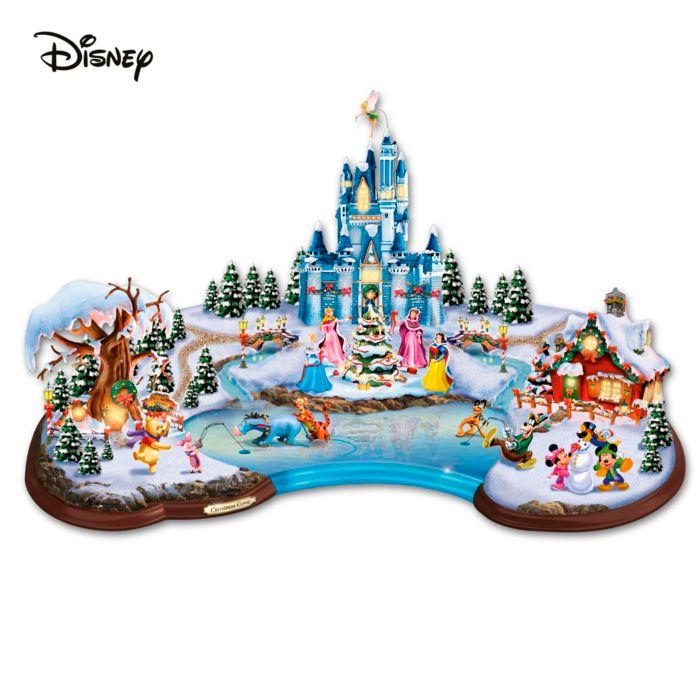 Weihnachtsdorf Mit Beleuchtung | Weihnachtsbucht Disney Miniatur Weihnachtsdorf