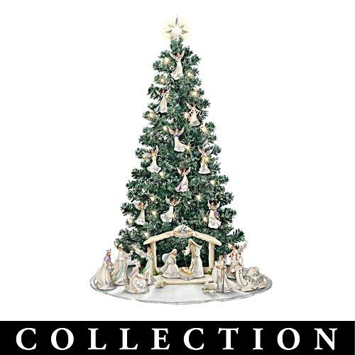 """Silver Blessings Nativity"" Pre-Lit Christmas Tree"