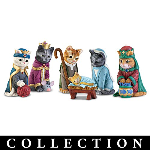 The PURR-fect Christmas Pageant Nativity Figurine Collection
