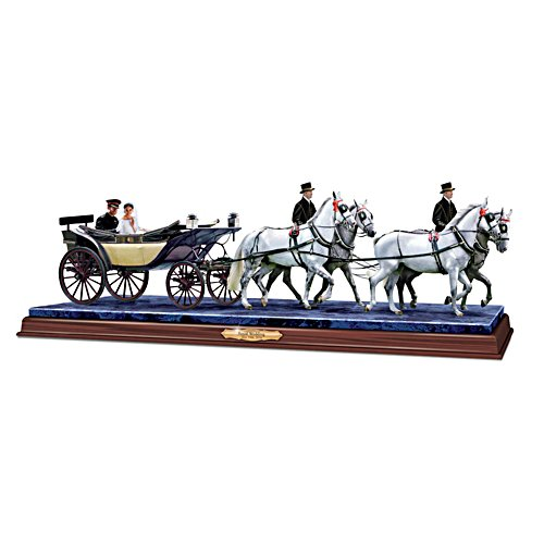 """A Royal Tradition"" Wedding Carriage Masterpiece Sculpture"