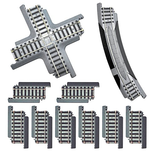 Cross Track Pack: 1 x 90 Degrees Crossing, 1 x 46cm Curve Rerailer, 8 x 7.5cm Straight Track Set