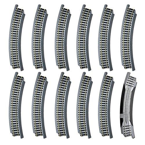 1 x 46cm Curved Terminal Rerailer, 11 x 46cm Radius Curve Set