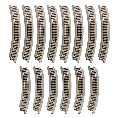 14-Piece Curved Track Pack Train Accessory Set