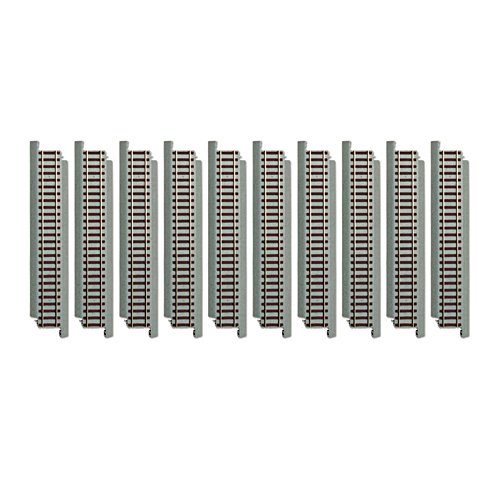 10-Piece 23cm Straight Track Train Accessory Set