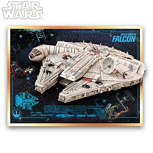 Star Wars™ Millennium Falcon Illuminating Musical Wall Sculpture