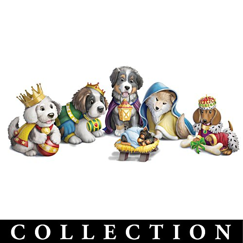 Puppy Nativity Pageant Figurine Collection