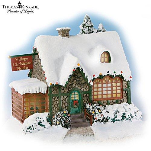 "Thomas Kinkade ""Village Christmas Florist"" Sculpture"