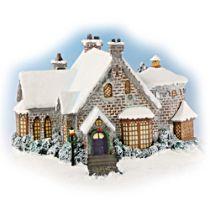 """Thomas Kinkade """"Christmas Manor"""" Sculpture"""